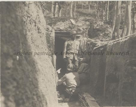 BU-F-01073-1-08765 Primul război mondial. În tranşee pe Dealul Porcului, s. d. (sine dato) (niv.Document)