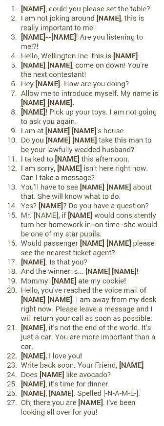Final Run Through When Trying Out A Baby Name Idea THE BOY VERSION Is