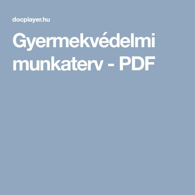 Gyermekvédelmi munkaterv - PDF