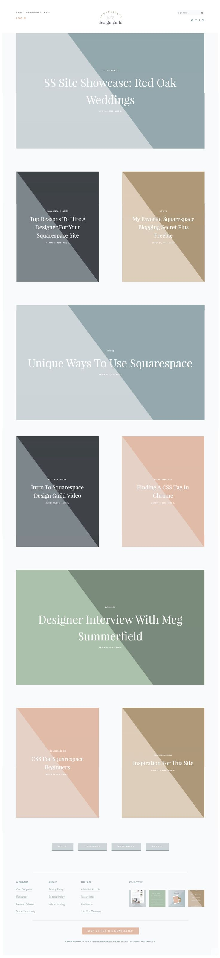 squarespace design guild, a resource for designers working in squarespace for client's websites