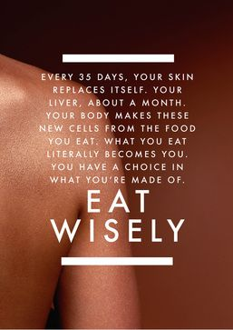 eat wisely - you are what you eat #health #quotes http://www.inspirational-quotes-about-life.net/health.html