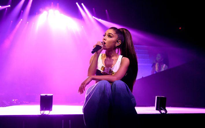 Download wallpapers Ariana Grande, concert, superstars, 4k, beauty, american singer