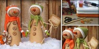 Návod na roztomilých ručne šitých snehuliakov, ktorí privítajú zimu na parapete vášho okna