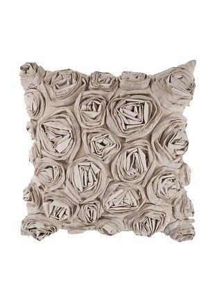 66% OFF Surya Rosette Throw Pillow (Coriander)