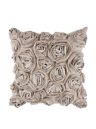 66% OFF Surya Rosette Throw Pillow (Coriander)
