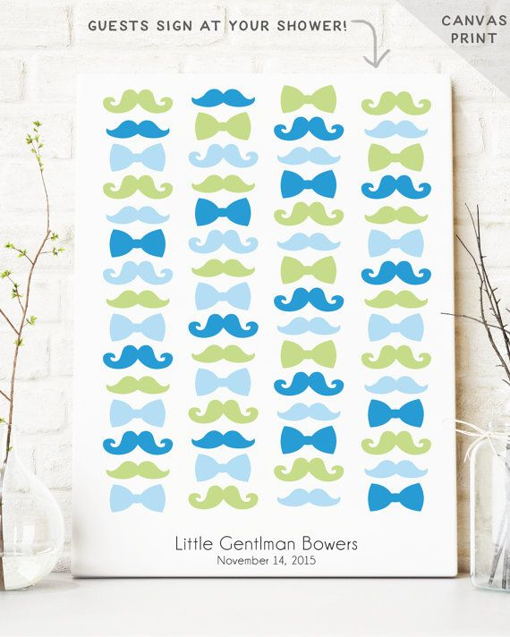 Hipster Baby Shower Guest Book Alternative  by MissDesignBerryInc