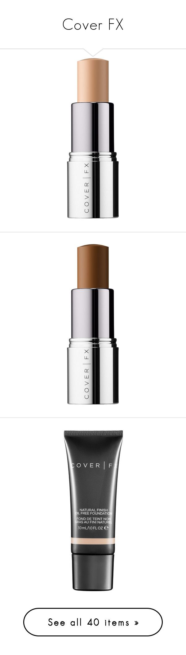 """""""Cover FX"""" by tina-teena ❤ liked on Polyvore featuring beauty products, makeup, face makeup, highlight makeup, cover fx makeup, cover fx, cover fx cosmetics, foundation, cover fx foundation and oil free foundation"""