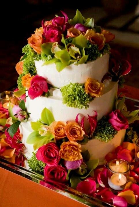 FLOWER GARDEN CAKE @ katie Shea Designs