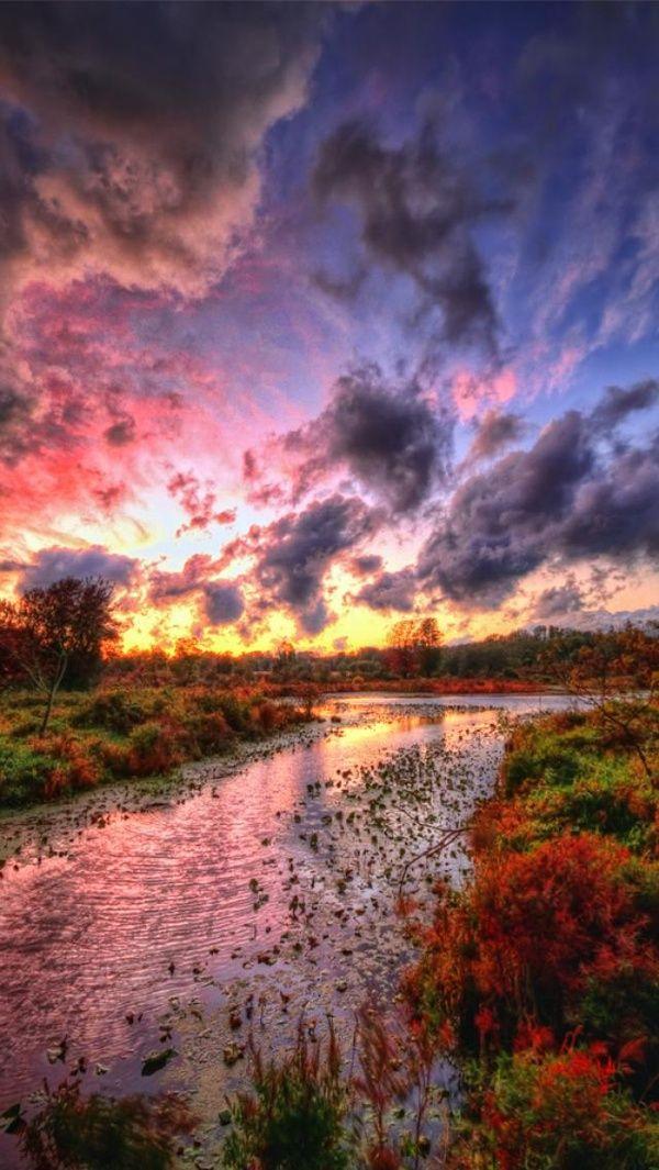 ✿ڿڰۣ The sky and the stream