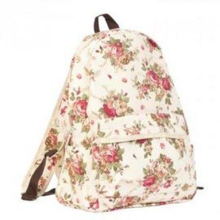 Stylový bavlněný batoh s dekorem - Kliknutím zobrazíte detail obrázku.