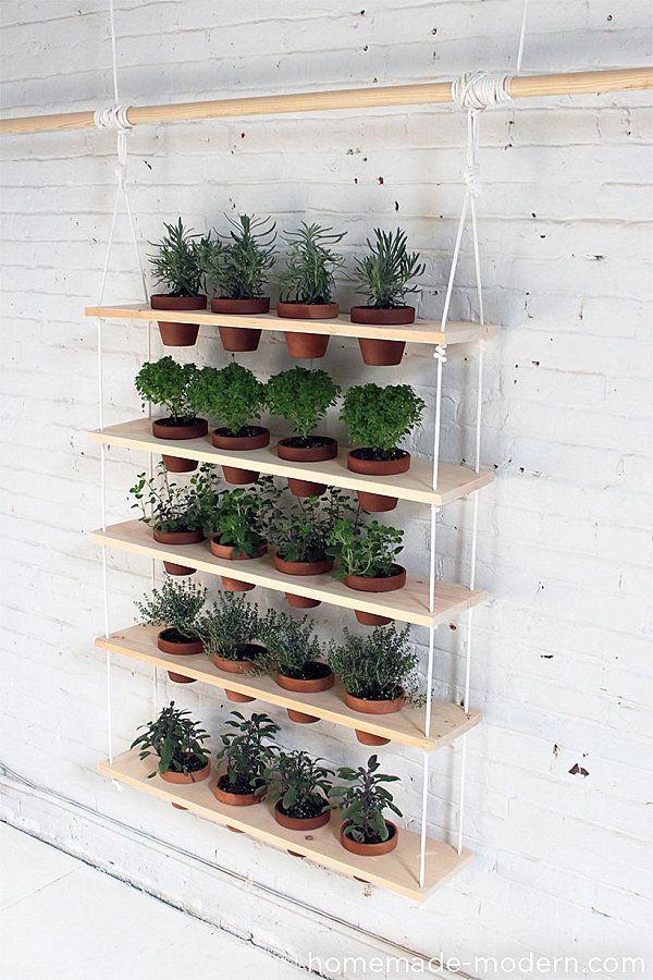this would be great with a watering tray under neath each and use Herbs right by your back door