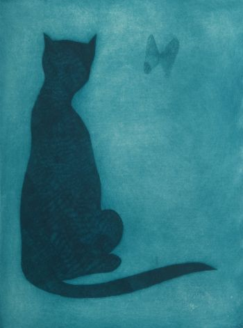 Charles Blackman ~ The Burmese Cat