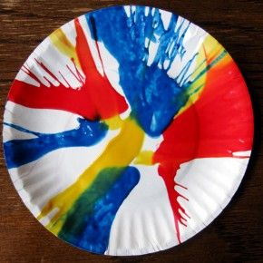Mouse Paint Activity using a salad spinner