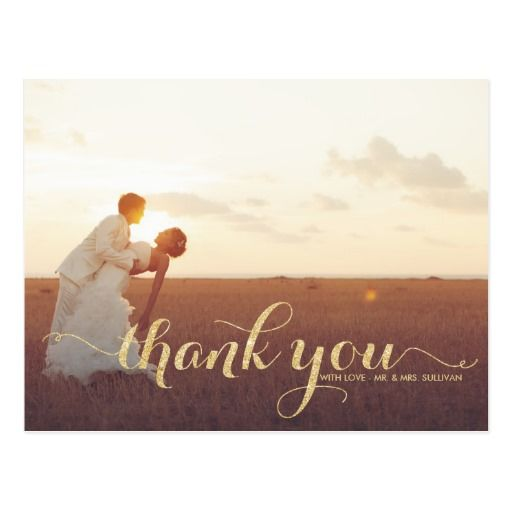 Best Rustic Wedding Thank You Postcards Images On