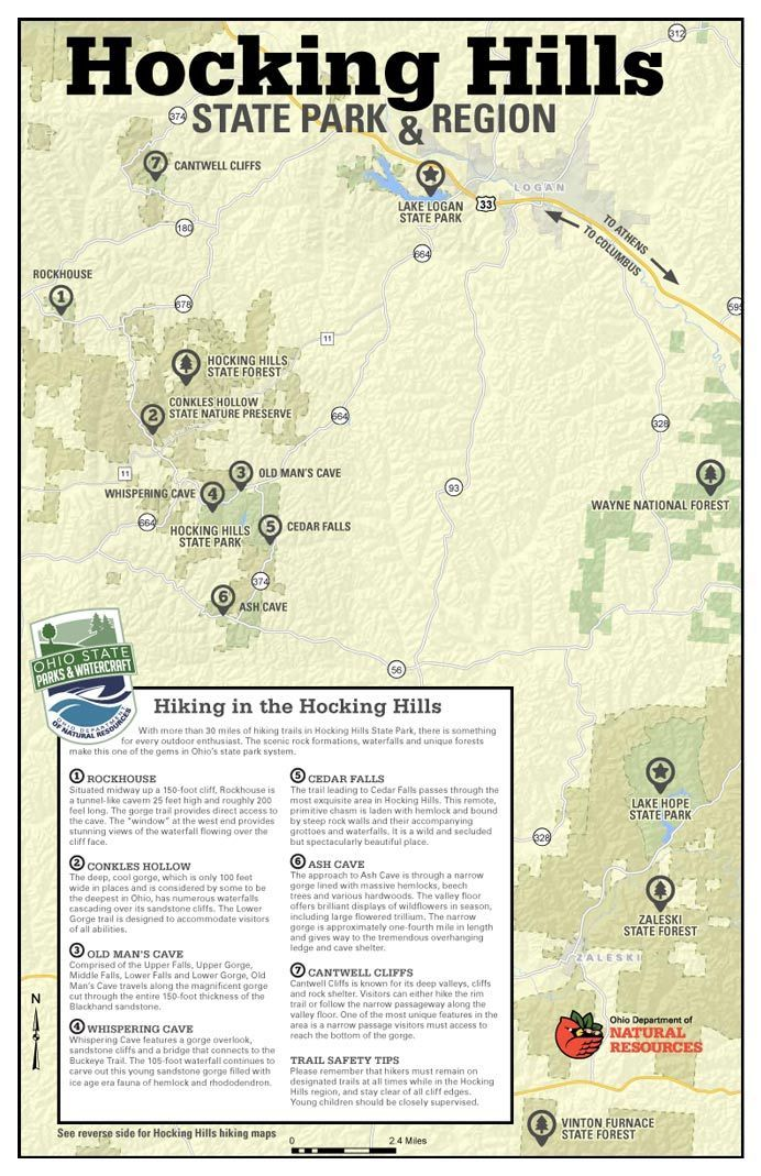 Brilliant Ohio Map.Hocking Hills State Park Map Let S Go On An Adventure In 2019