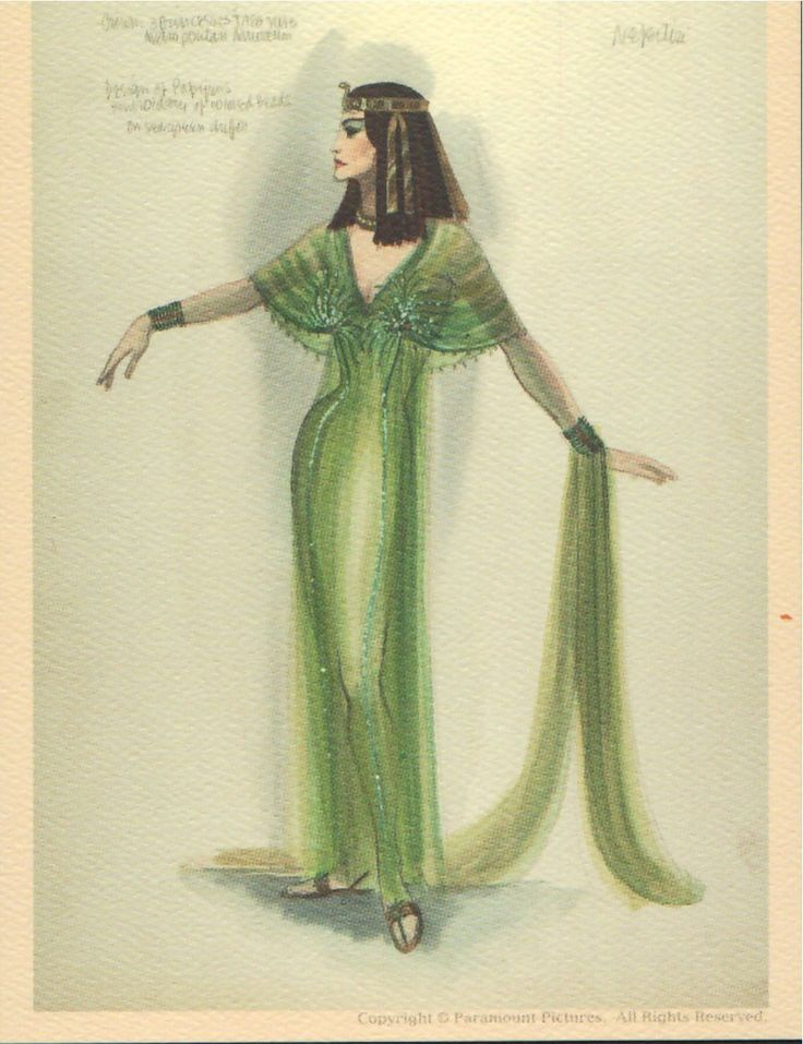 Edith Head costume design for   The Ten Commandments