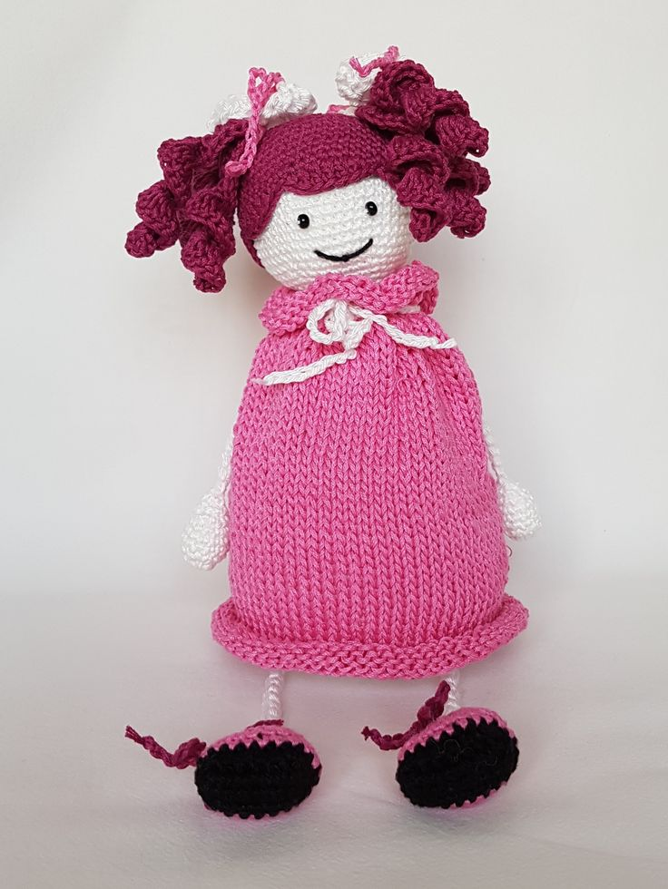 Crochet doll Alina. Lalka zrobiona na szydełku Alinaa. hand made dolls cotton crochet toy gift girl lalki szydełko zabawka ręczna praca ręczne robótki bawełna