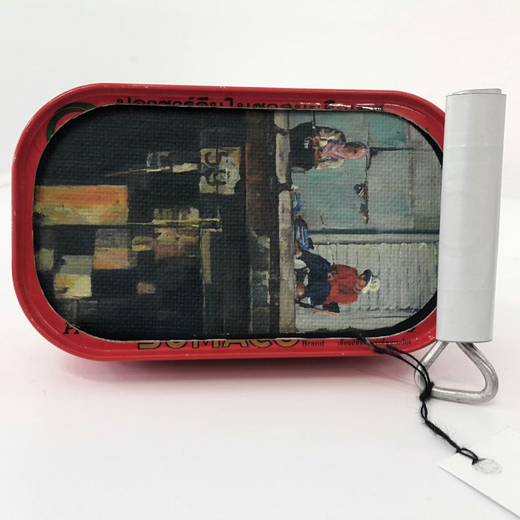 Susie Marwick Sardine Cans and miniature paintings