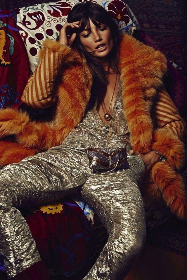 Lily Aldridge Transforms Into A Retro Rock Goddess For S Moda