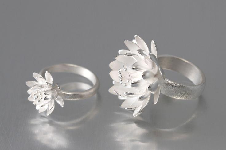 Elise Moran Waterlily Rings
