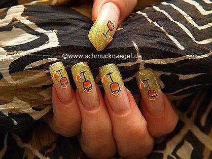 Motivo en uñas para la fiesta de nochevieja -Nochevieja 5: Nail Art Motivo 151 http://www.schmucknaegel.de/