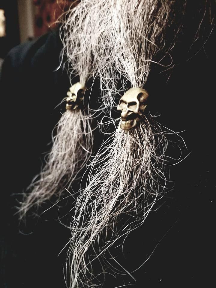 Norse Viking Beard Dread Bead High Quality 5 Piece Skull Hair Dreadlock Choice Of Metal Finish