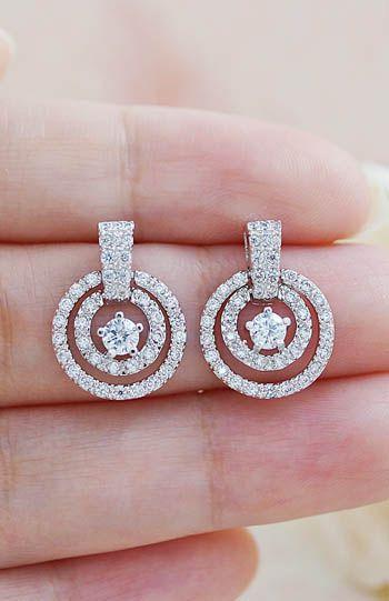 Cubic Zirconia Bridal Earrings Bridesmaid Earrings from EarringsNation