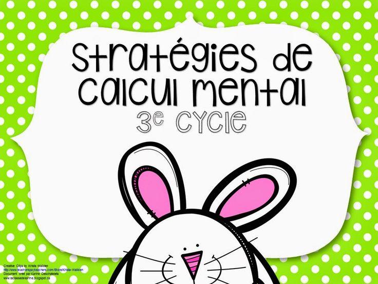 La classe de Karine: Stratégies de calcul mental pour le printemps