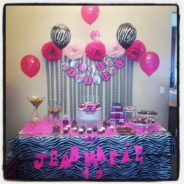 Zebra birthday party For any events go to www