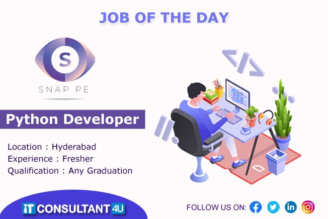 Pythondeveloper Fresherjobs Itconsultant4u Hyderabadjobs Itconsultant Jobs For Freshers Help Finding A Job Job Posting