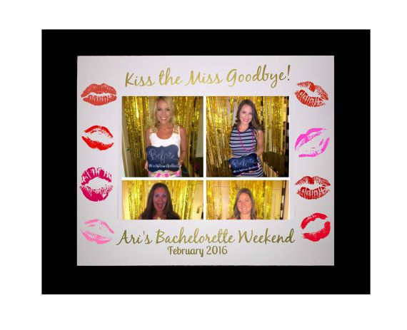 Kiss the Miss Goodbye Picture Mat is the perfect gift for your Bachelorette or even a great memento for the bridesmaids! This picture mat is available…