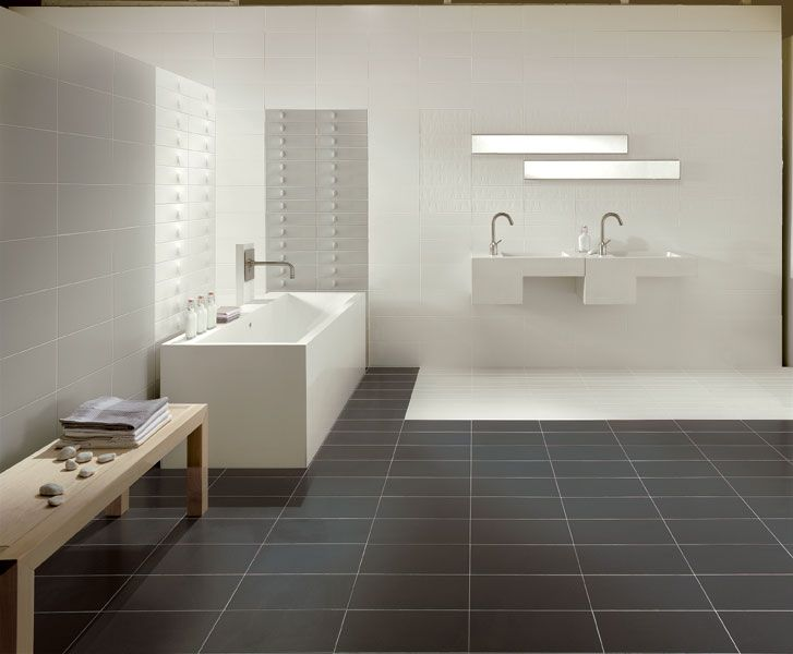 Glazed white bodied porous single-fired tiles cemento - Lea Ceramiche
