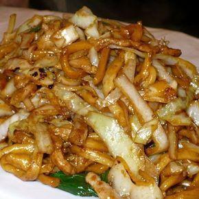 Opekané čínske ryžové rezance