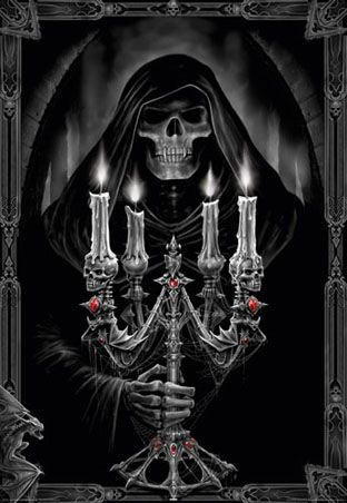 Candelabra by Anne Stokes.