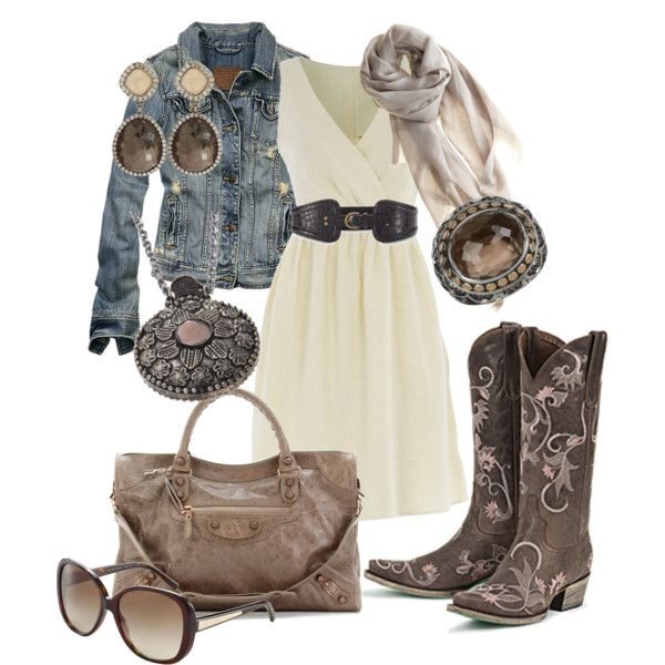 """""""Vintage Cowgirl......"""" by ambiegirl on Polyvore  Now this is a western outfit I could wear"""