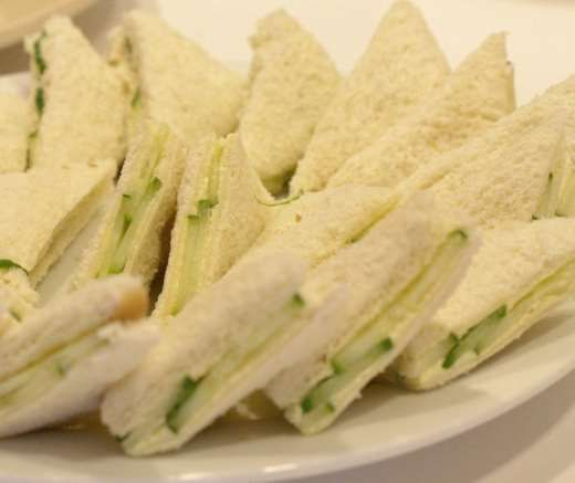 No afternoon tea is complete without cucumber sandwiches. They are so easy to make and hardly need a recipe, however there are one or two tips we can offer to ensure that they are fit for your friends, family or even the Queen should she be stopping by.