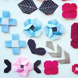 アレコレパーツ作成(^.^) #leaf #paperflower #papercraft #origami #poster #折り紙 #おりがみ #ペーパークラフト #ポスター素材