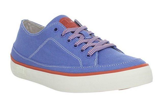 #FitFlop Fitness Schuhe - Super T Sneaker, Canvas, blau.