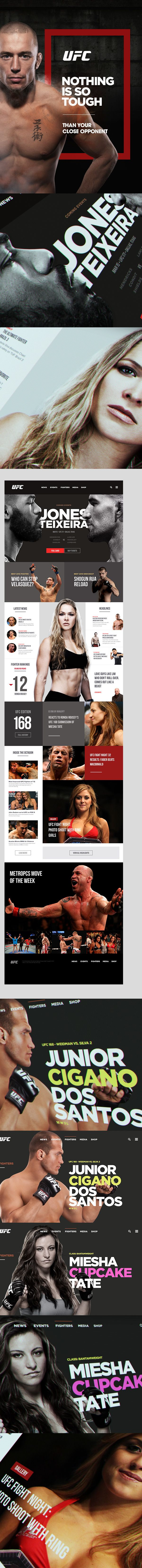 Cool Web Design on the Internet, UFC. #webdesign #webdevelopment #website @ http://www.pinterest.com/alfredchong/web-design/