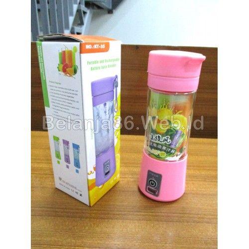 Portable Juice Blender KT-3S - 380ml Pink