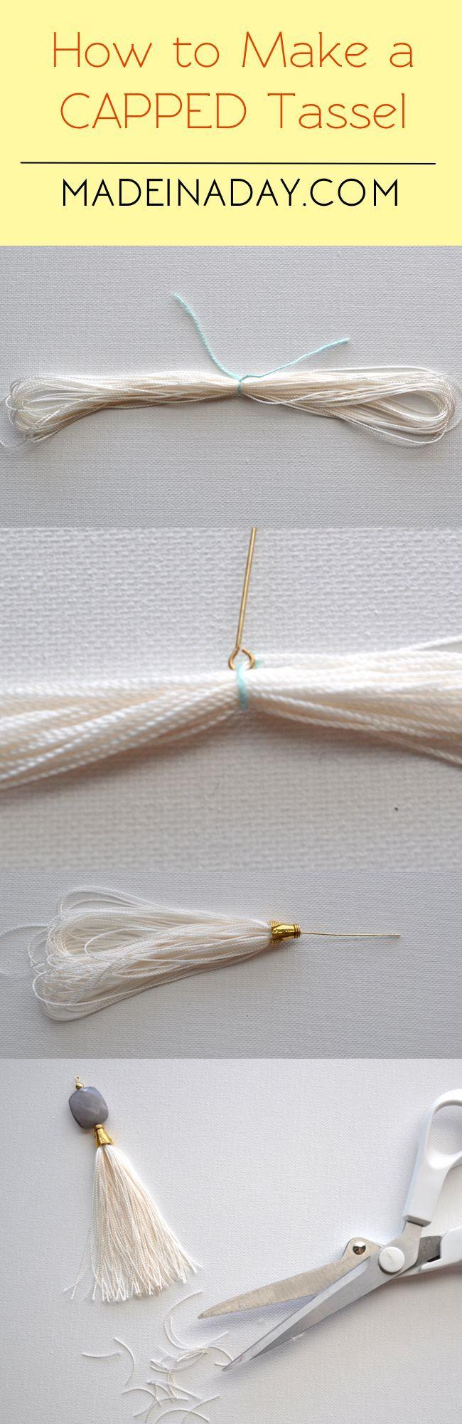DIY Capped Tassels