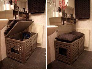 M s de 25 ideas fant sticas sobre cuarto para gatos en for Mueble arenero para gatos