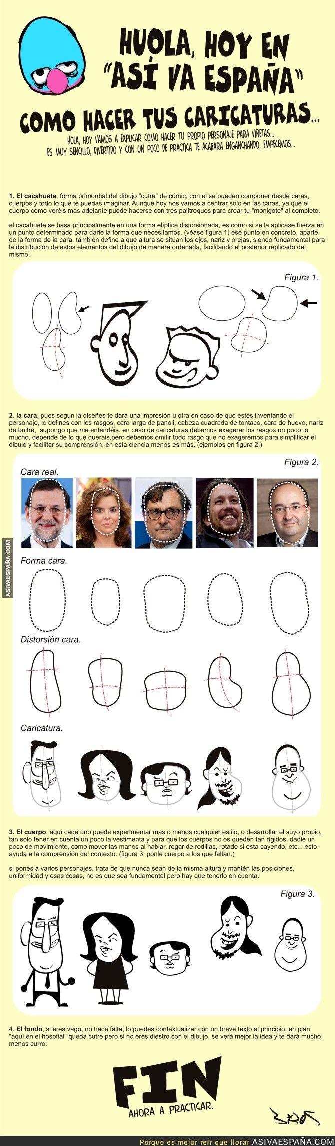 ¡Hoy en Así va España te enseñamos a hacer caricaturas!