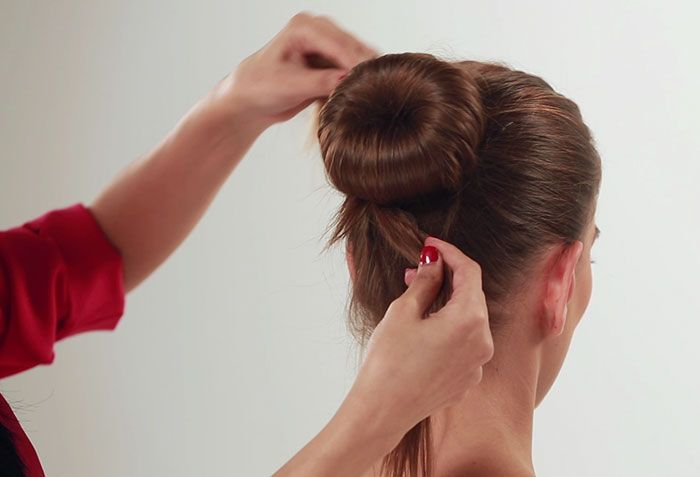 how to connect bun to hair