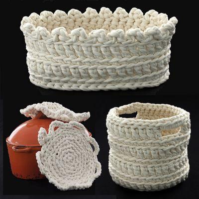 Chunky crochechunky crochet bowls