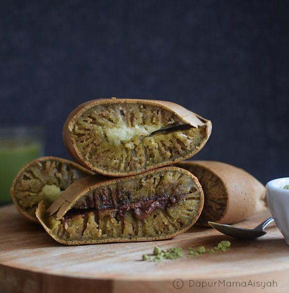 Dapur Mama Aisyah: Martabak Manis Green Tea/Matcha [Tanpa Ragi]