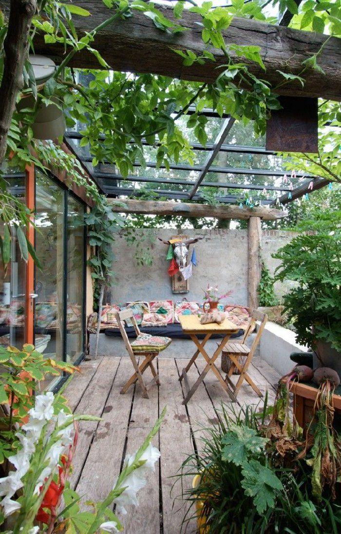 deko terrasse mit glas uberdachung