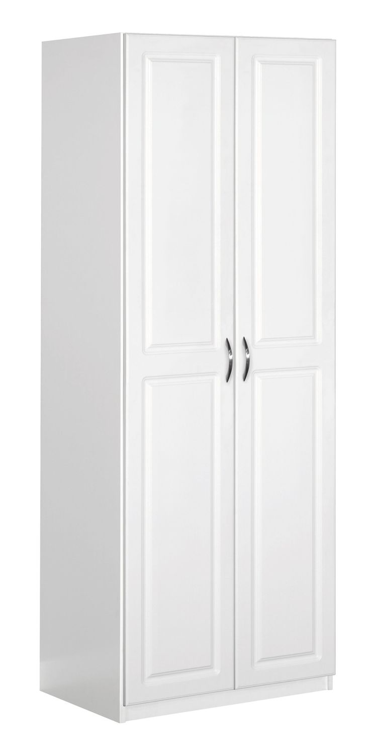 Doors and drawers adobe contemporary style flat panel cabinet door - Dimensions 71 73 H X 24 02 W X 18 12 D 2 Door Storage Cabinet White Storage Cabinetspanel Doorsbrushed Nickellaundrydrawers