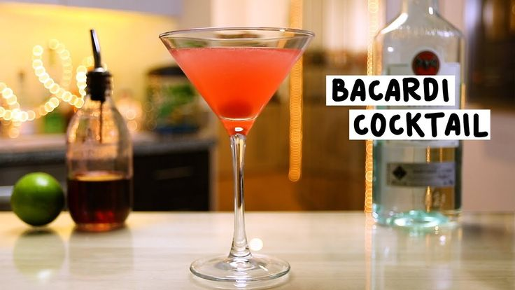 BACARDI COCKTAIL 2 1/2 oz. (75ml) Bacardi Light Rum 3/4 oz. (22.5ml) Lime Juice 1/2 oz. (15ml) Grenadine Garnish: Cherry PREPARATION 1. Shake all ingredients with ice and strain into martini glass. 2. Garnish with a cherry. DRINK RESPONSIBLY!