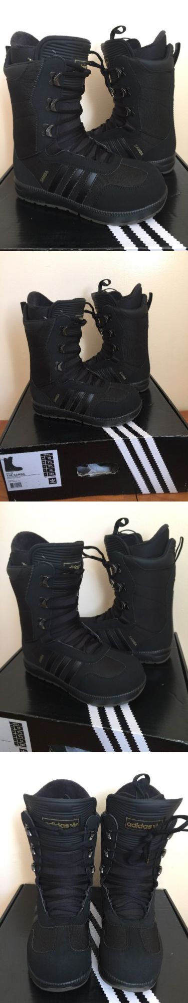 Boots 36292: New Mens Adidas The Samba Snowboard Boots 10 Black Gum Gold Rare S85658 BUY IT NOW ONLY: $155.0